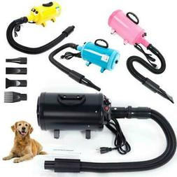 Portable Pet Hair Dryer Quick Blower Heater w/ 3 Tuyeres Dog