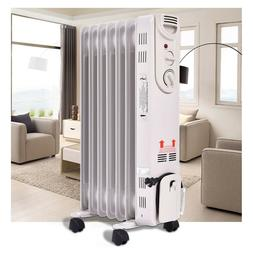 Radiator Space Heater Electric Time Oil Filled Energy Effici