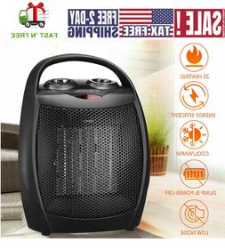 Small Space Heater Office Home Adjustable Thermostat Overhea