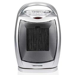 Brightown Space Heater 750W/1500W ETL Listed Oscillating Qui